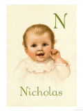 N for Nicholas Prints by Ida Waugh