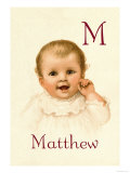 M for Matthew Posters by Ida Waugh