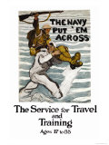 The Navy Put 'Em Across, c.1918 Poster by Henry Reuterdahl