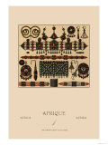 African Metalwork and Beading Prints by  Racinet