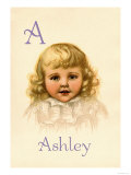 A for Ashley Posters by Ida Waugh