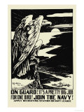 On Guard! Join the Navy! , c.1917 Prints by H.b. Matthews