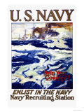 Help Your Country! Enlist in the Navy, c.1917 Print by Henry Reuterdahl