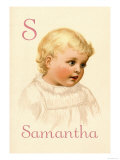 S for Samantha Posters by Ida Waugh