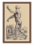 The Second Plate of the Muscles Prints by Andreas Vesalius