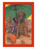 Dog on a Beach Posters by Diana Thorne