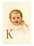 Baby Face K Print by Ida Waugh