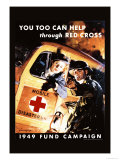 You Too Can Help Through Red Cross Premium Giclee Print by Jes Schlaikjer