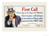 First Call, I Need You in the Navy, c.1917 Print by James Montgomery Flagg