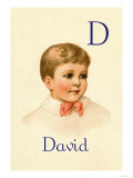 D for David Posters by Ida Waugh