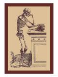 Leaning Skeleton Kunstdrucke von Andreas Vesalius