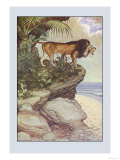 Robinson Crusoe: The Most Hideous Roar Premium Giclee Print by Milo Winter