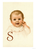 Baby Face S Print by Ida Waugh
