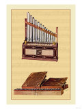 Portable Organ and Bible Regal Print