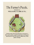 Optical Illusion Puzzle: The Farmer's Puzzle Poster