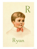 R for Ryan Poster by Ida Waugh