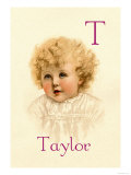 T for Taylor Posters by Ida Waugh