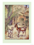 Robinson Crusoe: Having No Victuals to Eat, I Killed a She-Goat Posters by Milo Winter