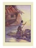 Robinson Crusoe: With This Cargo I Put to Sea Premium Giclee Print by Milo Winter
