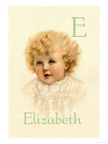 E for Elizabeth Prints by Ida Waugh