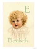 E for Elizabeth Prints by Ida Waugh