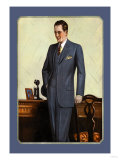Young Men's Three-Button Sack Posters