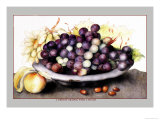 Dish of Grapes and Peaches Prints by Giovanna Garzoni