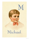 M for Michael Print by Ida Waugh
