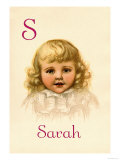 S for Sarah Prints by Ida Waugh