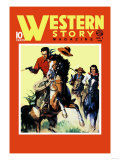 Western Story Magazine: On the Move Poster