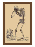 Bending Skeleton Print by Andreas Vesalius