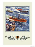 16 Foot Runabout Posters by Edward A. Wilson