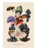 Stylish Winter Millinery Prints