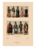 Variety of Turkish Costumes Poster by  Racinet