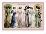 L'Art de la Mode: An Assortment of Elegant Gowns Prints