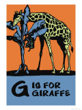 G is for Giraffe Posters by Charles Buckles Falls