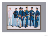U.S. Navy: Uniforms, 1899 Prints by  Werner