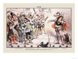 Puck Magazine: Scene from the New National Operetta Poster par Joseph Keppler