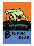 B is for Bear Posters by Charles Buckles Falls