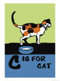 C is for Cat Poster by Charles Buckles Falls