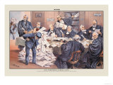 Puck Magazine: Our Overworked Supreme Court Prints by Joseph Keppler