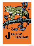 J is for Jaguar Poster by Charles Buckles Falls
