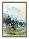 U.S. Navy: Rough Seas Art by Willy Stower