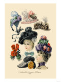 Fashionable Summer Millinery Poster