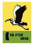 I is for Ibis Prints by Charles Buckles Falls