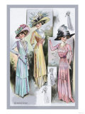 Le Bon Ton: A Trio in Pastels and Hats Posters