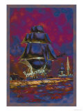 U.S. Navy: Night Falls Prints by Willy Stower