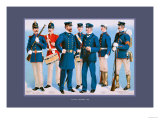 U.S. Navy: Uniforms, 1899 Poster by  Werner
