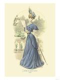 Toilette de Demi-Saison: Lady in Blue Prints