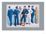 U.S. Navy: Uniforms, 1899 Prints by Willy Stower